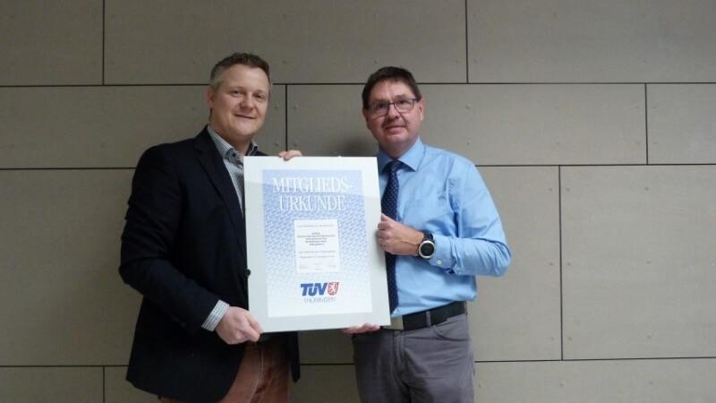 Mitgliedschaft TÜV Thüringen e.V.